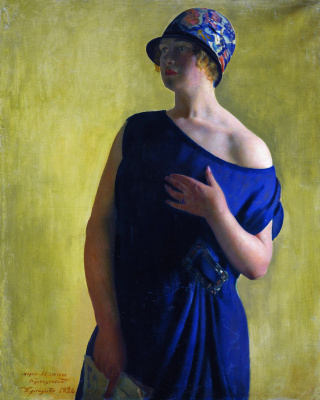 Boris Mikhailovich Kustodiev. Portrait of I. B. Kustodieva, daughter of the artist