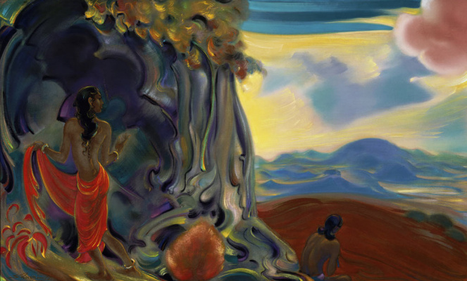 Svyatoslav Nikolaevich Roerich. Call of the Sacred flute