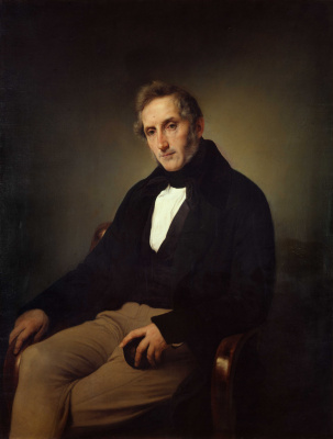 Francesco Ayets. Portrait of Alessandro Manzoni