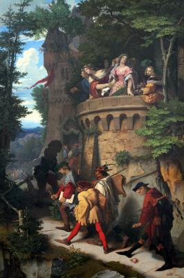 Moritz background Schwind. Rose or traveling musicians