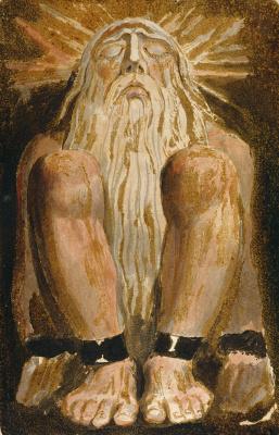 William Blake. The first book Urizen. Urizen in chains