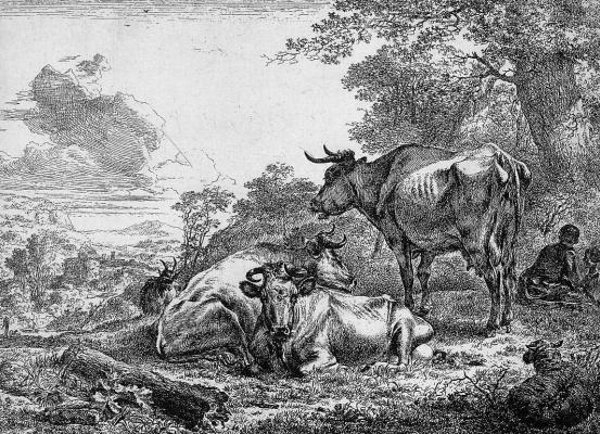 Николас Берхем. Отдых трех коров