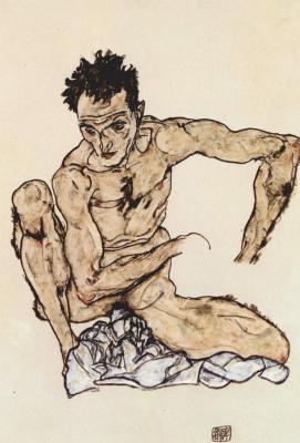 Эгон Шиле. Автопортрет