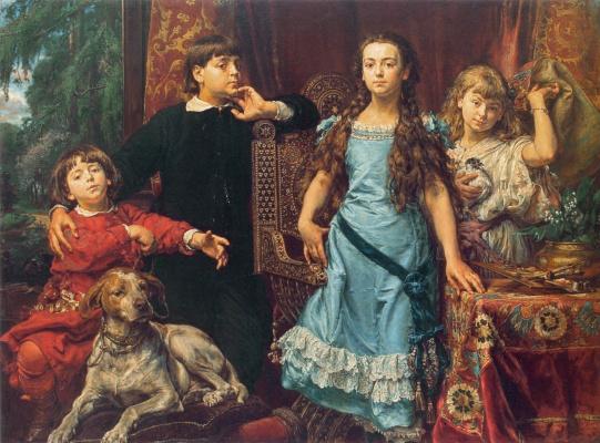 Jan Matejko. Portrait of four children of the artist