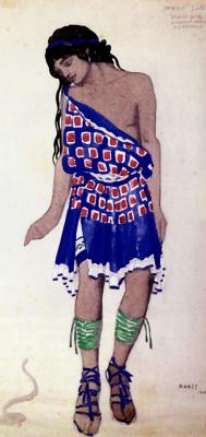 Lev Samoilovich Bakst (Leon Bakst). Costume design Orpheus ballet Roger-Ducasse