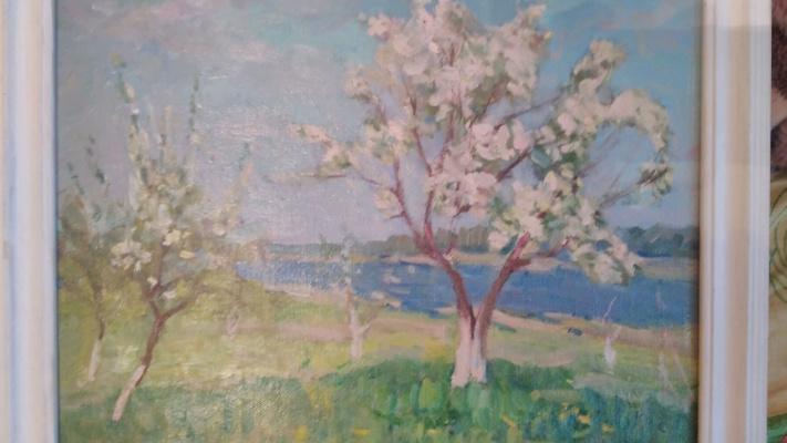 Иосиф Исаакович Гиллер. Яблони в цвету