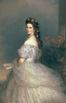 Franz Xaver Winterhalter. Elisabeth of Bavaria, Empress of Austria. Fragment