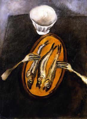 Haim Solomonovich Soutine. Still life with herring