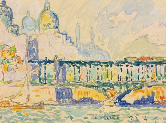 Paul Signac France 1863 - 1935. Paris, Trocadero Palace. 1909