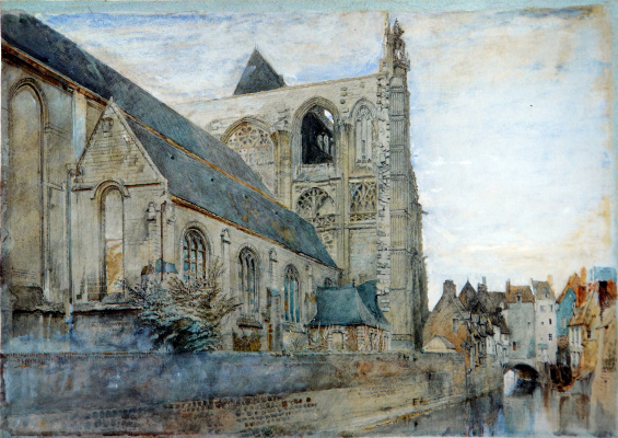 John Ruskin. St. Wolfre's Church, Abbeville, France
