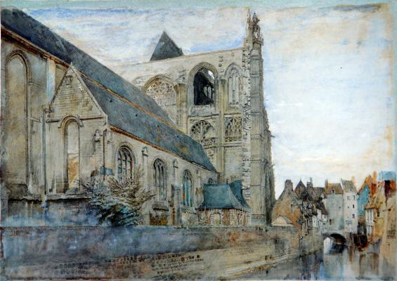 John Ruskin. St. Wolfre's Church, Abbeville, France