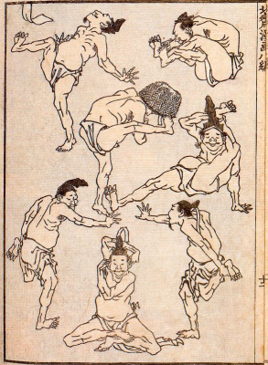 Katsushika Hokusai. Cartoon
