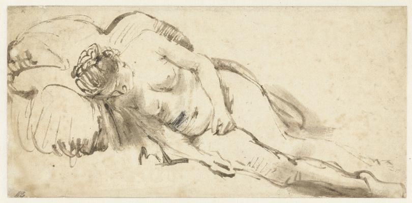 Rembrandt Harmenszoon van Rijn. Sleeping Nude model
