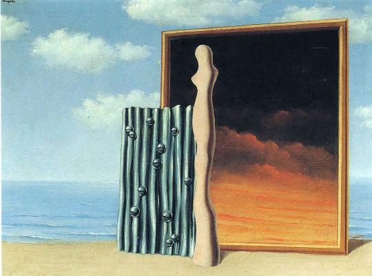 René Magritte. Composition on a seashore