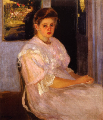 Alexander Murashko. The girl in pink