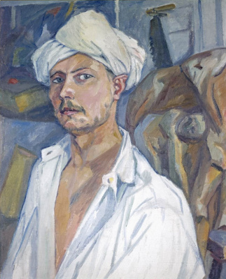 Mikhail Larionov. Self-portrait in turban