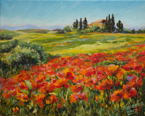 Mila Kaneyeva. Poppy field