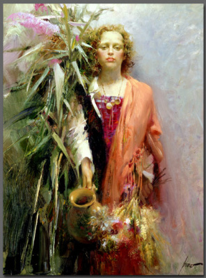 Pino Dany. Girl with decanter