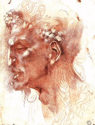 Michelangelo Buonarroti. Head of a Satyr