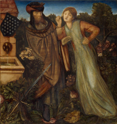 Edward Coley Burne-Jones. King Mark and Beauty Isolde