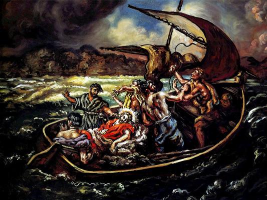 Giorgio de Chirico. Christ during a storm