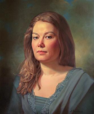 Anna Mukhamedchina. Self-portrait