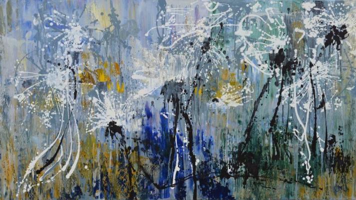 "Tanya Vasilenko. ""Dandelions"", oil on canvas. Dandelions. Oil on canvas."