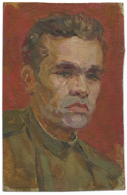 Alexandrovich Rudolf Pavlov. Self portrait 1. 1959