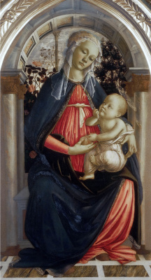 Sandro Botticelli. The Madonna del Roseto (Madonna of rose garden)