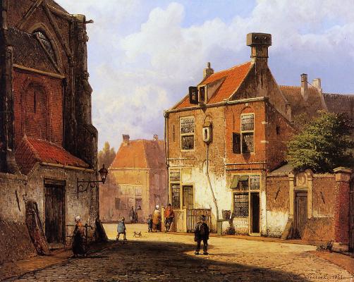 Виллем Куккук. Старая голландская улица