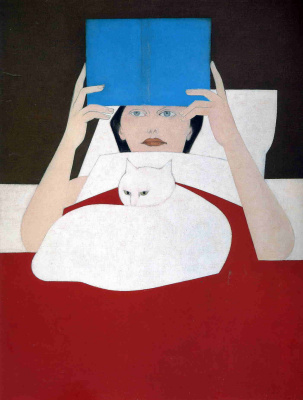Will Barnet. Blue book and the black cat