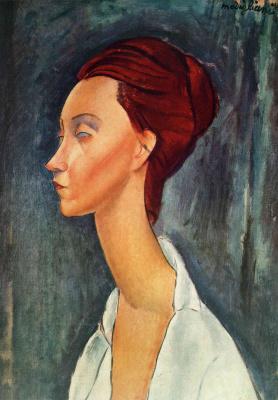 Amedeo Modigliani. Portrait Lunii Chekhov's profile