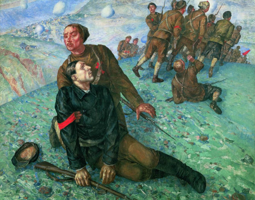 Kuzma Sergeevich Petrov-Vodkin. The death of the Commissioner