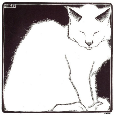 Maurits Cornelis Escher. White cat