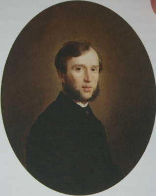 Nikolai Vasilyevich Nevrev. Male portrait. 1861