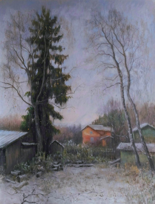 Ольга Акрилова. November in the village Solmanovo