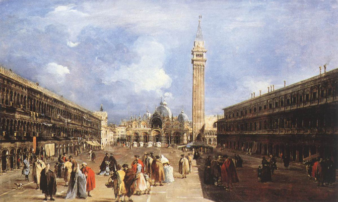 Francesco Guardi. Piazza San Marco in the Basilica