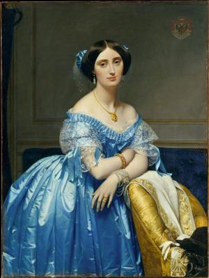 Jean Auguste Dominique Ingres. Josephine-Eleonore-Marie-de-Pauline de Galar Brassac de Bearn, Princesse de, Broglie