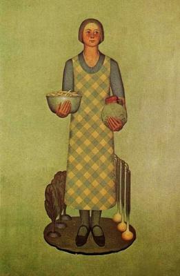 """Грант Вуд. Дочь фермера и овощи. Серия """"Продукция Айовы"""""""