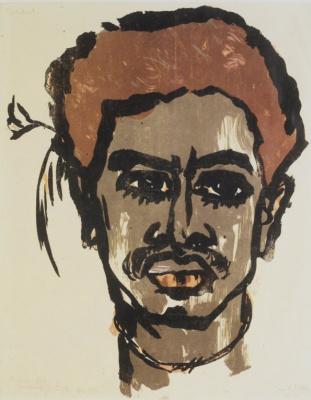 Emil Nolde. Portrait of a South sea Islander