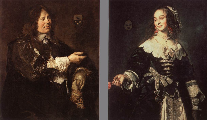 Frans Hals. The portraits of Stephen and Isabella Geerards Kooymans
