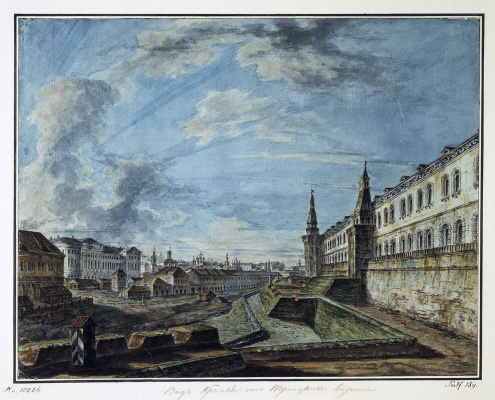 Fedor Yakovlevich Alekseev. View of Moscow from the Trinity gates of the Kremlin