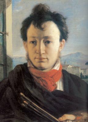 Александр Григорьевич Варнек. Автопортрет с палитрой и кистями в руке