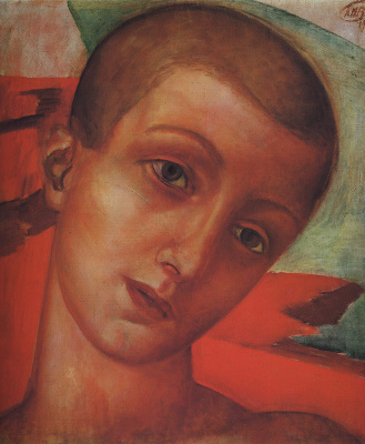 Kuzma Sergeevich Petrov-Vodkin. Head of a young