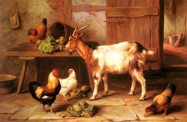 Эдгар Хант. Коза и куры