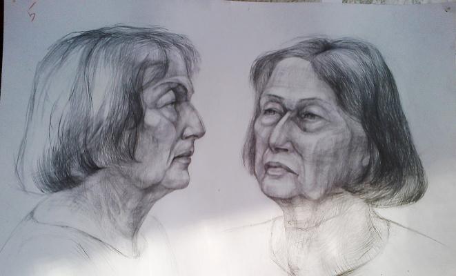 Selena Zhigulskaya. Portrait training