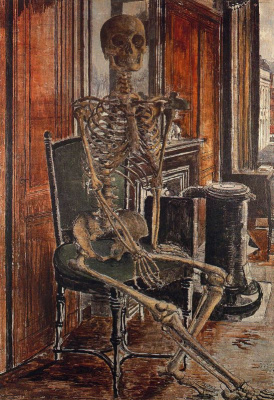 Paul Delvo. The skeleton on the chair
