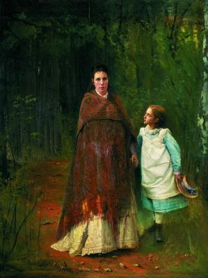 Ivan Nikolayevich Kramskoy. Portrait of Sofia Nikolaevna and Sophia Ivanovna Archaeology wife and daughter of the artist