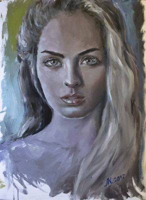 Mila Kaneyeva. Portrait of an unknown girl