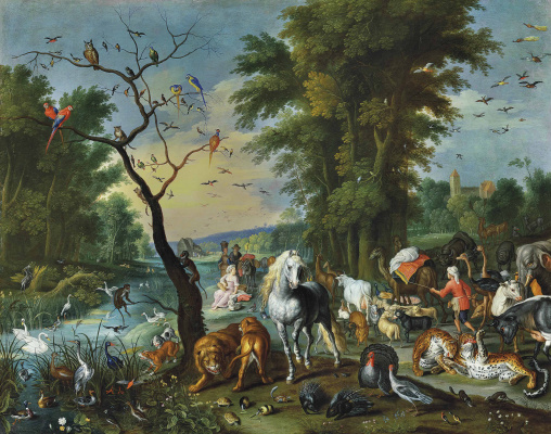 Jan Brueghel the Younger. Noah's Ark entry